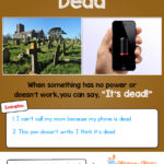 Idiom of the day - dead