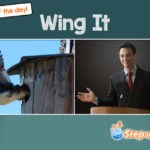 Wing It idiom of the day ESL EFL picture