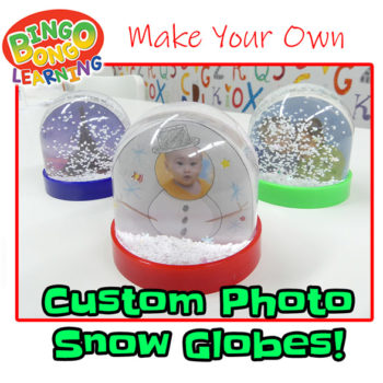 custom photo snow globes